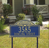 Sunburst Lawn Address Plaque (Estate Size)