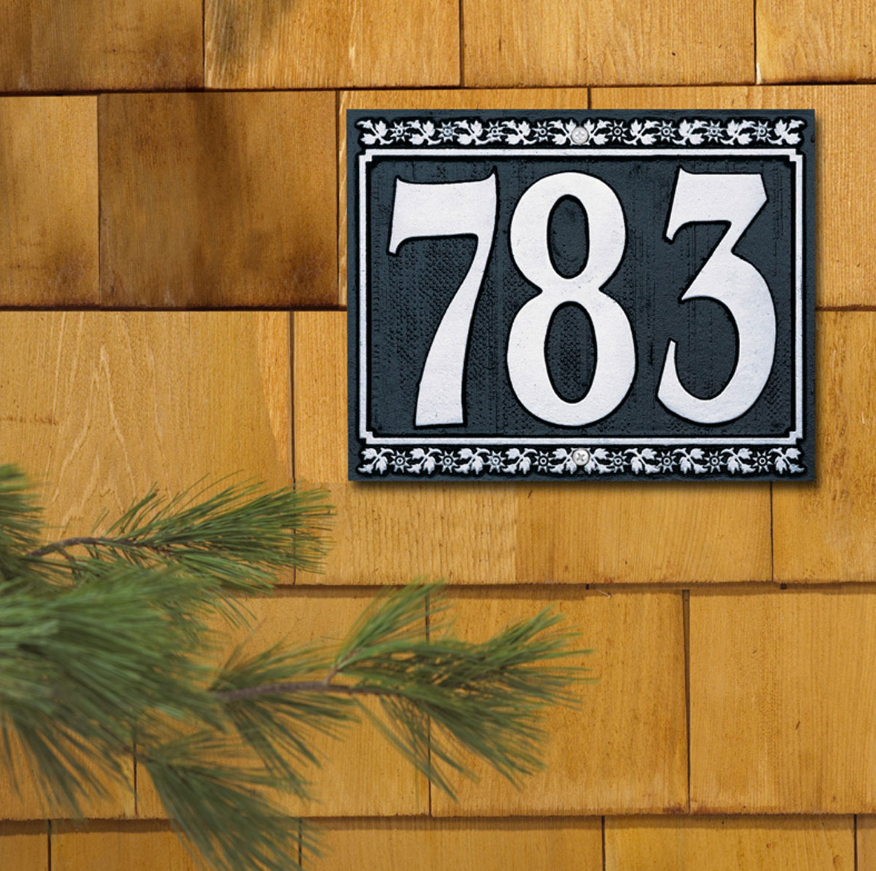 Dresden Three Number Wall Address Plaque