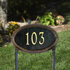 Concord Oval Lawn Address Plaque (Standard Size)