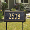 Springfield Rectangle Lawn Address Plaque (Estate Size)