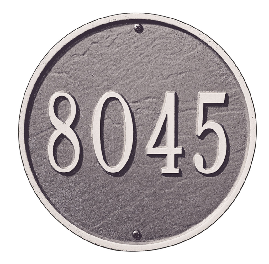 "9"" Diameter Round Wall Address Plaque"