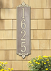 Lyon Vertical Wall Address Plaque (Estate Size)