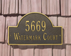 Arch Marker Wall Address Plaque (Standard Size)