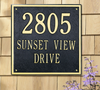 "15"" Square Wall Address Plaque"