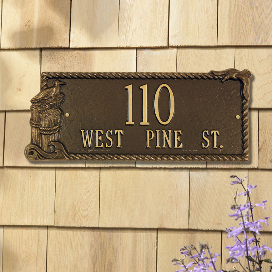 Seagull Rectangle Wall Address Plaque by Whitehall Products