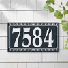 Dresden Four Number Wall Address Plaque