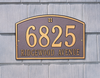Cape Charles Wall Address Plaque (Standard Size)
