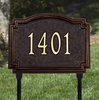 Williamsburg Lawn Address Plaque (Standard Size)