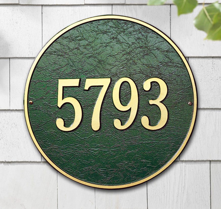 "15"" Diameter Round Wall Address Plaque"