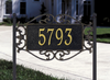 Lewis Fretwork Lawn Address Plaque (Standard Size)