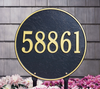 "15"" Diameter Round Lawn Address Plaque"