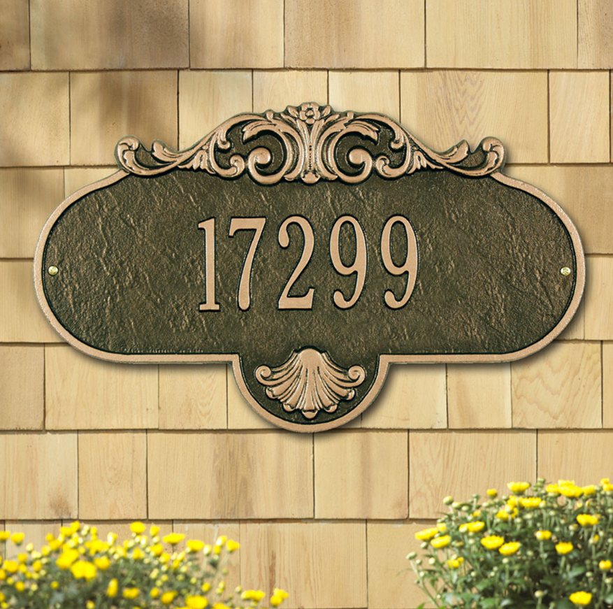 Rochelle Wall Address Plaque (Grande Size) Whitehall ProductsOutside The Box Home & Garden Décor