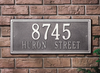 Double Line Wall Address Plaque (Estate Size)
