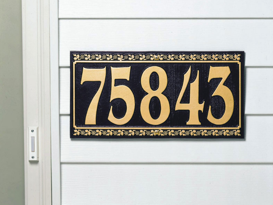 Dresden Five Number Wall Address Plaque