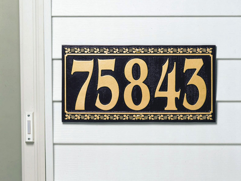 Square & Rectangle Address Plaques