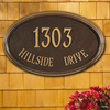 Concord Oval Wall Address Plaque (Estate Size)