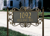 Mears Fretwork Lawn Address Plaque (Standard Size)