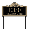 Villa Nova Lawn Address Plaque (Standard Size)