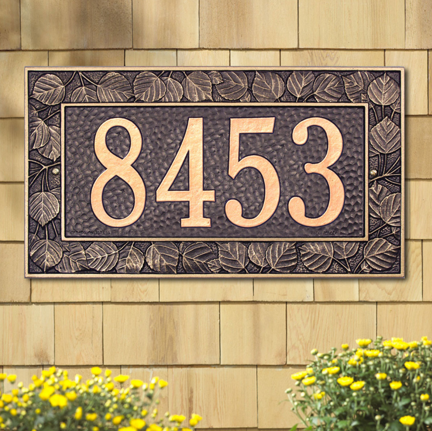 Aspen Wall Address Plaque