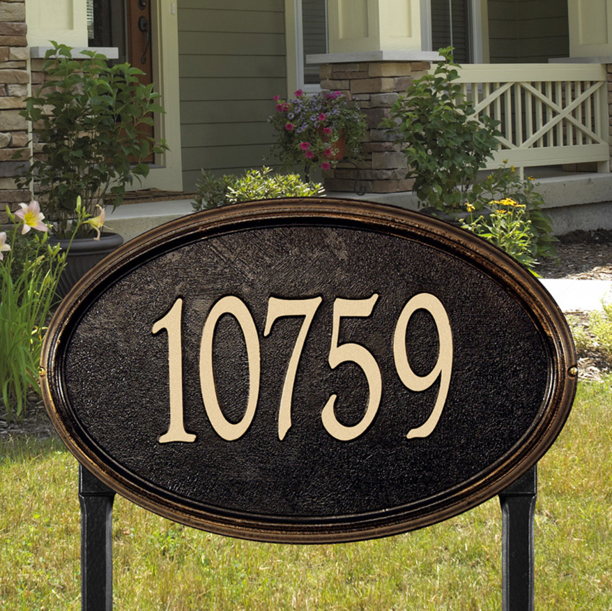 Oval Round Address Plaques Outside The Box Home Garden Décor