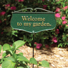 Welcome To My Garden Poem Sign