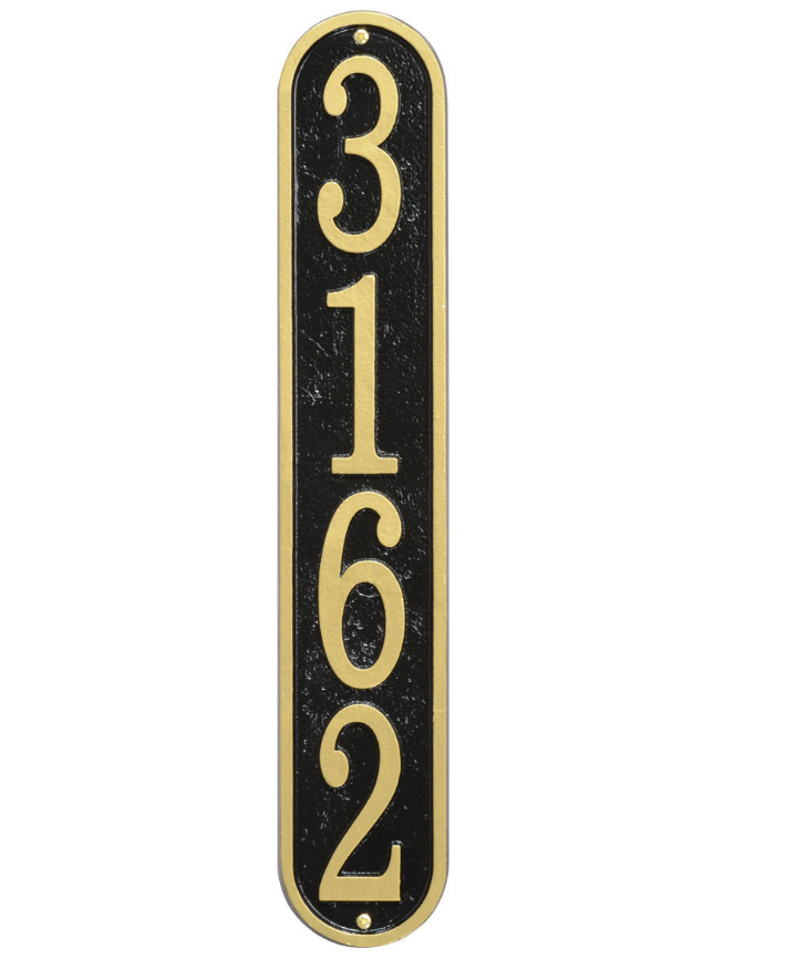 Vertical House Numbers Plaque