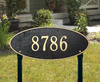 Madison Oval Lawn Address Plaque (Estate Size)