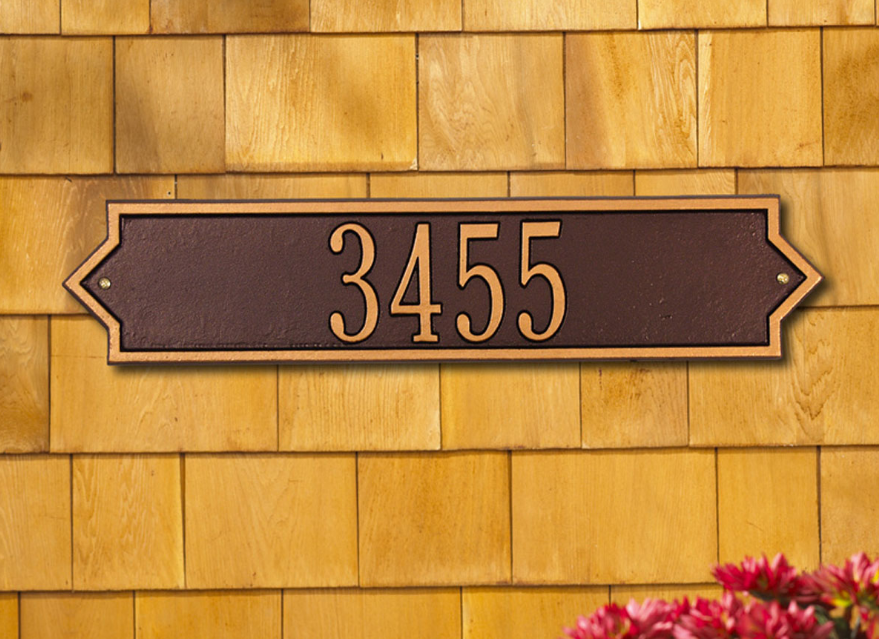 Norfolk Horizontal Wall Address Plaque (Estate Size)