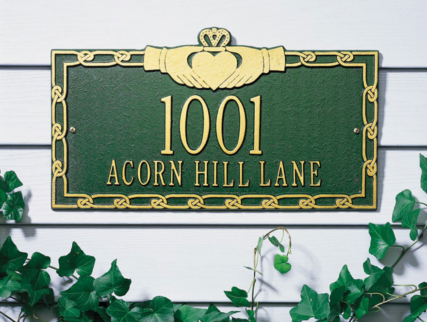 Claddagh Wall Address Plaque