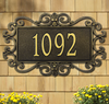 Mears Fretwork Wall Address Plaque (Estate Size)