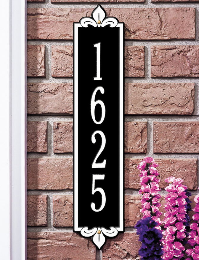 Lyon Vertical Wall Address Plaque (Standard Size)