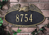 Eagle Oval Wall Address Plaque