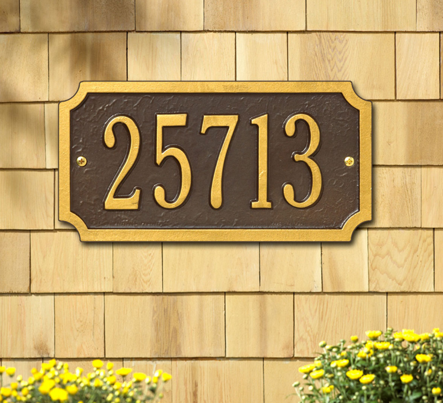 Cut Corner Wall Address Plaque