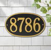 Oval Round Wall Address Plaque