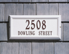 Springfield Rectangle Wall Address Plaque (Estate Size)