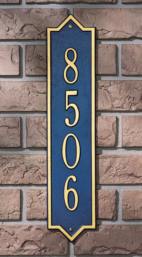 Norfolk Vertical Wall Address Plaque (Standard Size)
