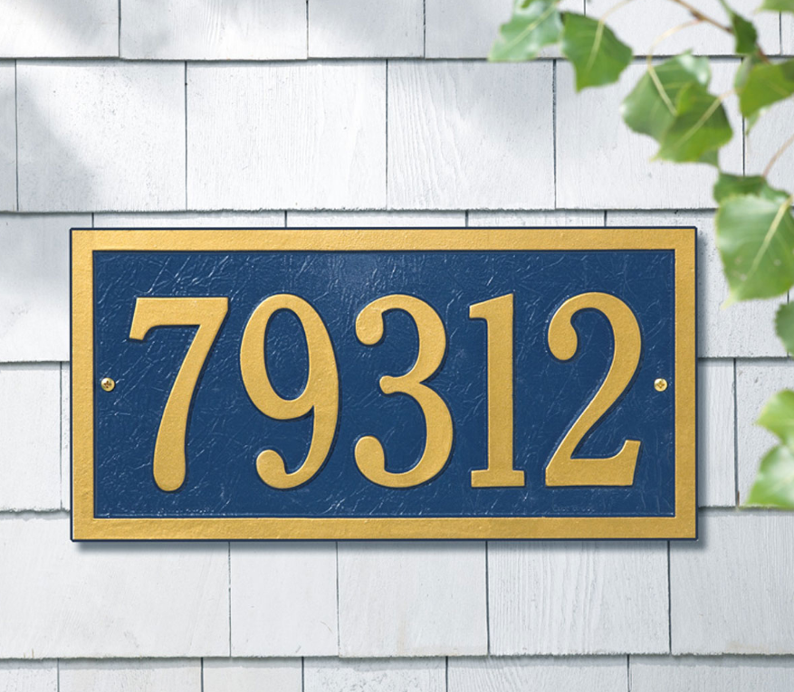 Bismark Wall Address Plaque