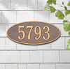 Madison Oval Wall Address Plaque (Standard Size)