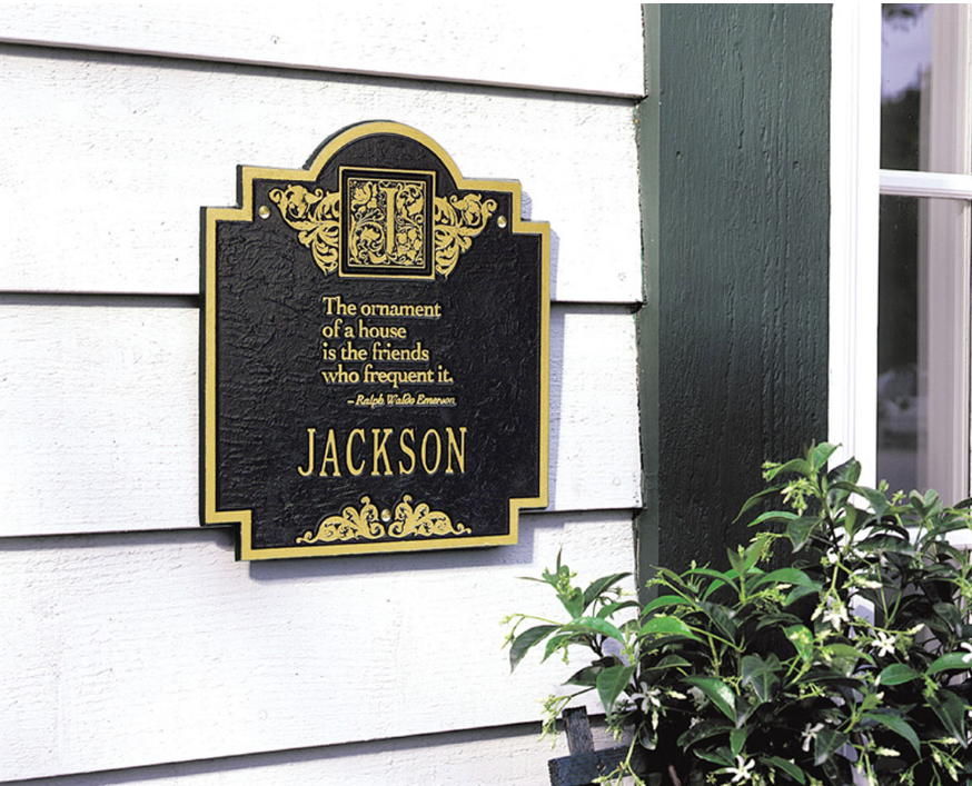 Emerson Monogram Wall Plaque