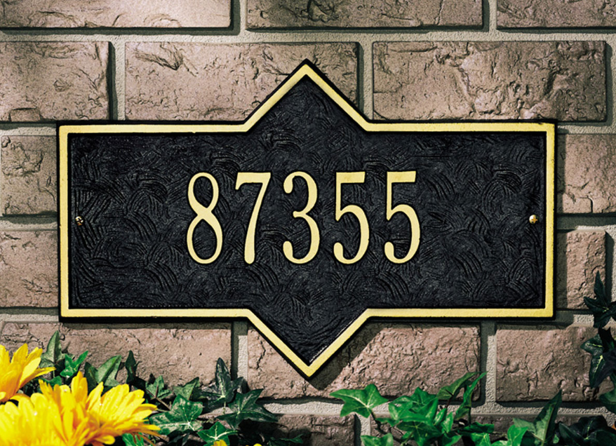 Hampton Wall Address Plaque (Standard Size)