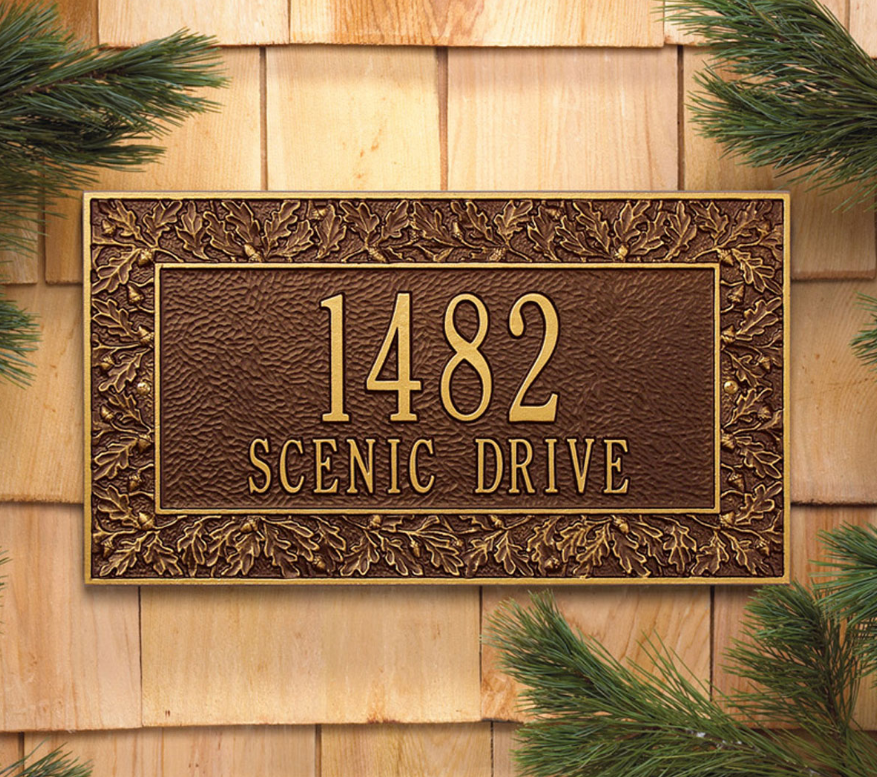 Oakleaf Wall Address Plaque
