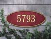 Madison Oval Wall Address Plaque (Estate Size)