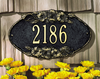 Pansy Oval Wall Address Plaque