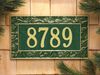 Pinecone Wall Address Plaque