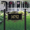 Mears Fretwork Lawn Address Plaque (Estate Size)