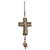 Beaded Iron Cross Nana Bell Chime