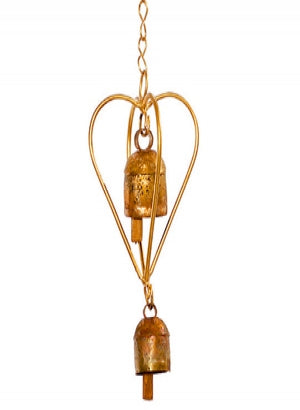 3-D Heart Ornament Nana Bell Chime