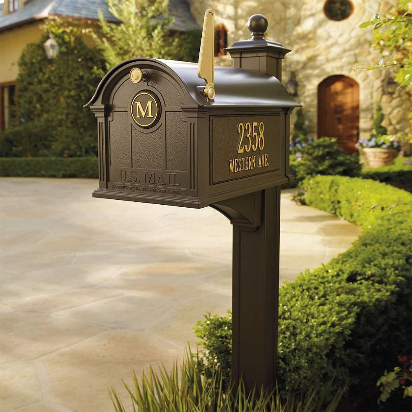 Custom Whitehall Balmoral Residential Mailbox With Post