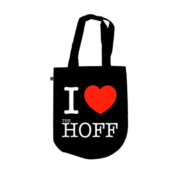 BLACK 'I HEART' TOTE BAG