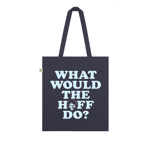 NAVY WHAT WOULD THE HOFF DO TOTE BAG